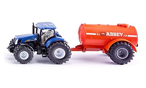 SIKU Farmer Trattore con carrobotte monoasse per liquami, Color Azul/Naranja (Sieper GmbH 1945)