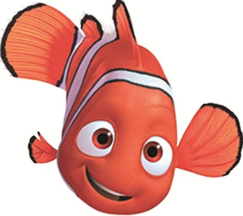 4 INCH Clownfish Clown Fish Finding Nemo 2 Movie Removable Peel Self Stick Wall Decal Sticker Art Bathroom Kids Room Walt Disney Pixar Home Decor Boys Girls 4 Inches Wide By 3 Inches Tall