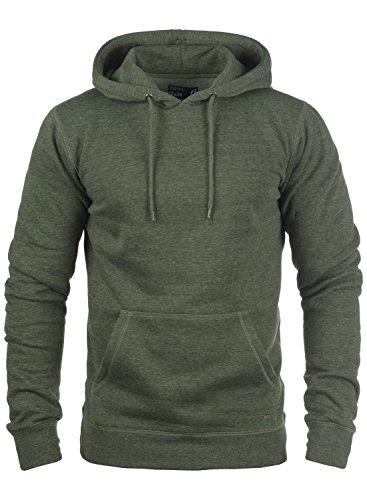 !Solid Bert Herren Kapuzenpullover Hoodie Pullover Mit Kapuze Und Fleece-Innenseite, Größe:XL, Farbe:Climb Ivy Melange (8785)