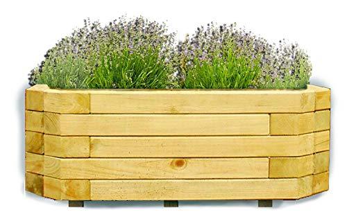 Gartenpirat Pflanzkasten 100x40x35 cm Holz imprägniert Pflanzkübel für die Wandaufstellung