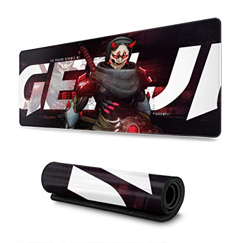 Mousepad Ov-Erwa-Tch Genji Dormitory Rubber Gaming Dedicated Mouse Pad Computer Custom Colorful Printed Non-Slip Large Home 80X30Cm Rectangle Non-Slip Student MousepadT