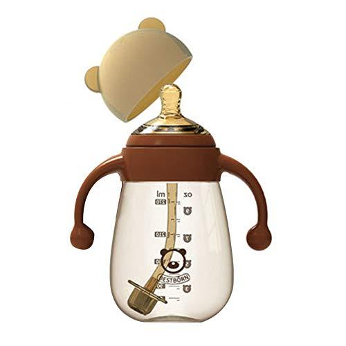 Lucun Perfect Start Babyflaschenset, 0 bis 36 Monate, 5-teiliges Set,Brown,270ml
