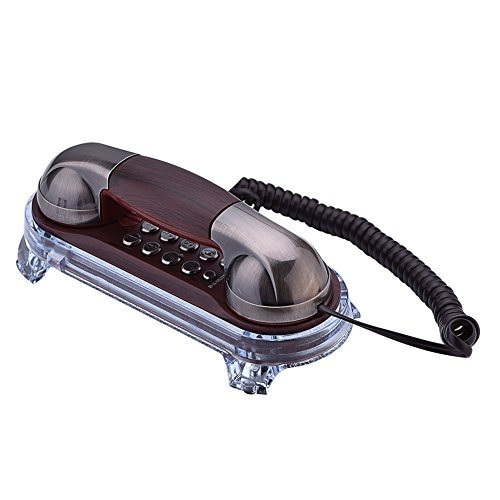 Richer-R Retro/Antik Wandtelefon Schnurtelefon, Klassisch Retro Schnurgebundenes Telefon Wand Telefon,Ergonomisch Kompakttelefon Anruf Telefon mit Wählscheibe für Hause Büro usw.
