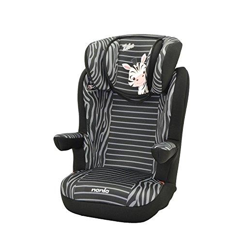 Mycarsit - Silla de coche grupo 2/3 de 15 a 36kg - fabricación 100% francesa - 3 estrellas test tcs - reposa cabeza y asiento tapizado, acolchado y ajustable - reposabrazos abatibles. 4 colorido