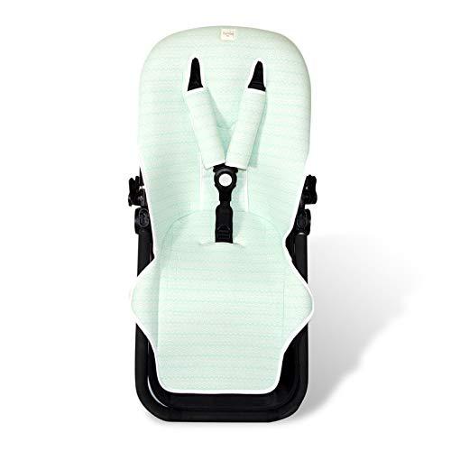 Fundas BCN ® - F125/7001 - Colchoneta para silla de paseo Bugaboo Cameleon ® 3 – Green Bay ⭐