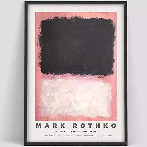 Mark Rothko Poster Art Exhibition Cartel Vintage Resumen Arte de la pared Estado estampado Minimalista Lienzo Pintura Sala de estar Decoración Múltiple Tamaño