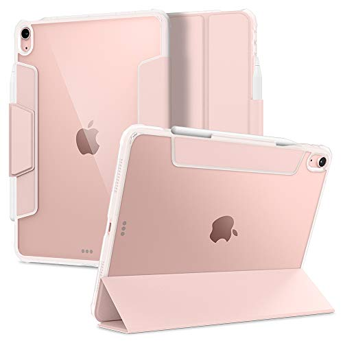 Spigen Ultra Hybrid Pro Back Cover Case Compatible with iPad Air 4th 10.9 inch (2020) with Pencil Holder – Rose Gold