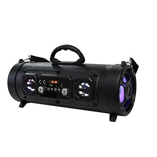 Bluetooth-Lautsprecher 4.2, 15 W, tragbarer kabelloser Bluetooth-Lautsprecher, wasserdicht, High-Power-Musikfass-Lautsprecher, Stereo-Sound, satter Bass für Outdoor, Reisen, Party, Zuhause (schwarz)