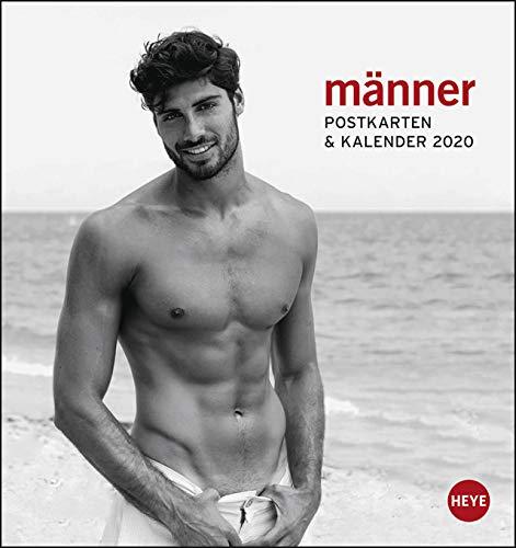 Männer - Postkartenkalender 2020 - Heye-Verlag - mit 12 heraustrennbaren Postkarten - 16 cm x 17 cm