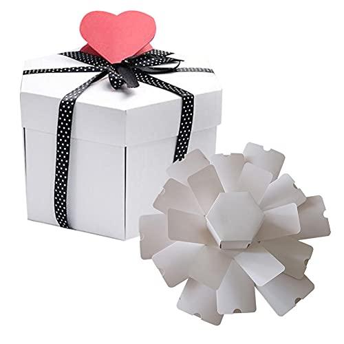 BAWAQAF Cajas de regalo, caja de regalo misterioso del día de la madre, caja de regalo grande de boda, álbum de recortes, álbum de fotos, cumpleaños, romántico, suministros sorpresa