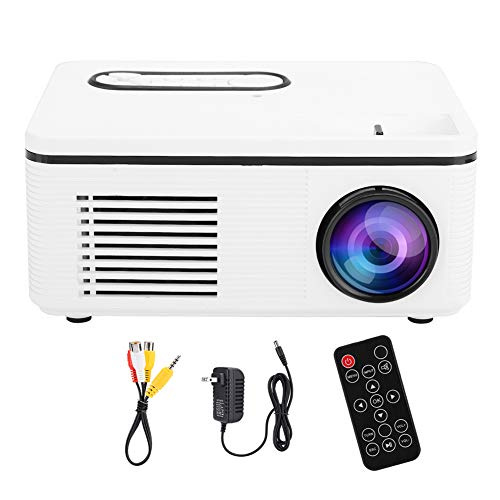 VBESTLIFE Mini LED Projector 1080p HD Private Home Cinema Theater Portable Movie Projector Compatible with Desktop Laptop PC Smartphone, Gift Pocket Projector for Party Outdoor Recreation(White)