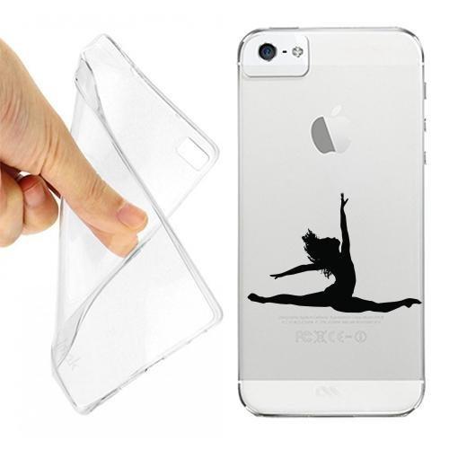 Custodia Cover Case Ballerina Danza Classica per iPhone 5 5S Trasparente