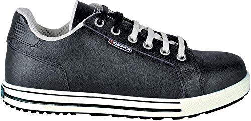 COFRA moderner Sicherheitsschuh, Throw S3 SRC, im Sneaker-Look aus der Old Glories Serie (45, schwarz - weiß)