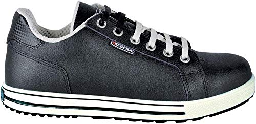 COFRA moderner Sicherheitsschuh, Throw S3 SRC, im Sneaker-Look aus der Old Glories Serie (44, schwarz - weiß)