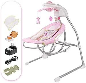 FTFTFTF Electric rocking chair  children rocking chair children electric cradle rocking chair recliner comfortable newborn shaker sleeping basket B