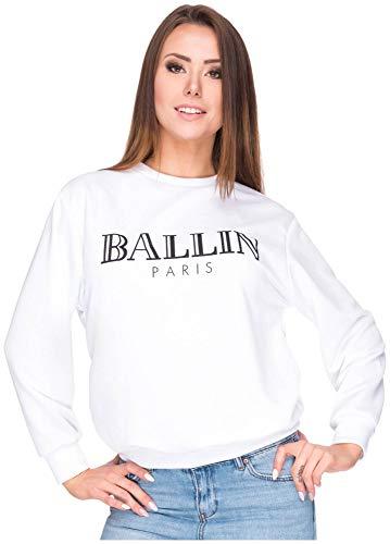 Sweater sweatshirt ballin pullover trui shirt top Parijs logo print