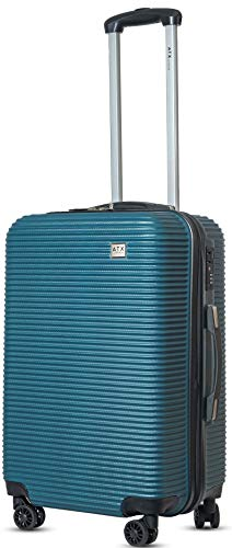 ATX Luggage Medium 24' Super Lightweight Durable Hold Check in Suitcases Travel Bags Trolley Case with 8 Wheels Built-in 3 Digit Combination Lock (Teal 119)