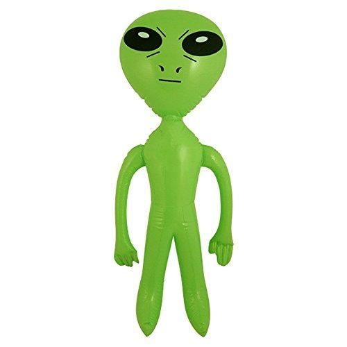 3 X gonflable Vert Alien science-fiction 64 cm
