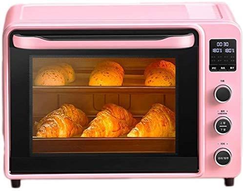 Horno de tostadora de encimera de convección, horno eléctrico Pequeño horno automático para hornear Multifunción Multifunción Horno de la torta