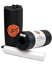 JPTsports 2-in-1 fasciarol incl. eBook & praktische draagtas | hoogwaardige massagerol voor rug, benen, wervelkolom | foamroller voor fascia-training