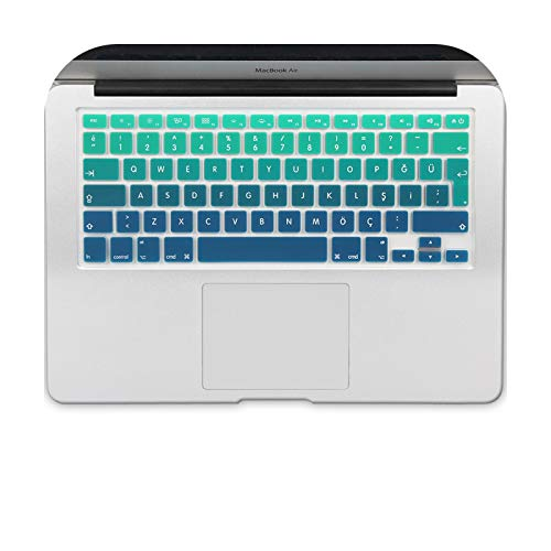 Eu Turkish Version Silicone Keyboard Protector Stickers Skin For Macbook Pro 13 15 17 Retina Mac Air 13 Keyboard Cover-Jb2