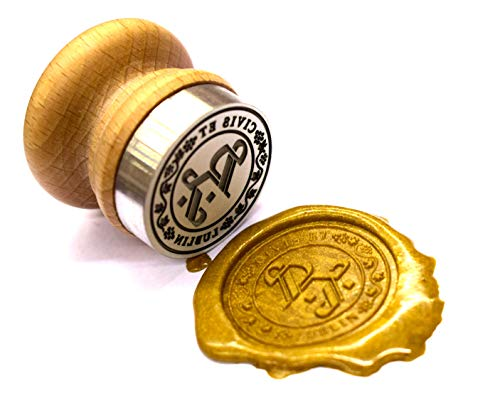 Eurograv Stempel Siegel Motivstempeln für Haut Durchmesser 44 mm mit Graveur auf Anfrage an, zum Beispiel: Logo, Grafiken, Initialen, Wappen oder andere nach dem Kundenwunsch