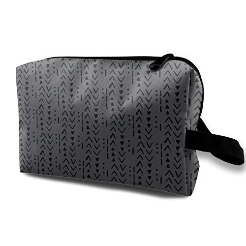 Bolsa de cosméticos de viaje, bolsa de maquillaje impermeable de carbón vegetal con cremallera de 4.8 pulgadas x 6.2 pulgadas x 10 pulgadas
