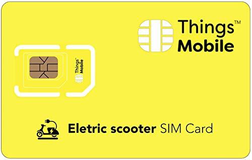 IOT/M2M-SIM-Karte für ELEKTROROLLER - Things Mobile - Things Mobile - weltweite Netzabdeckung, Mehrfachanbieternetz GSM/2G/3G/4G, ohne Fixkosten. 10 € Guthaben inklusive