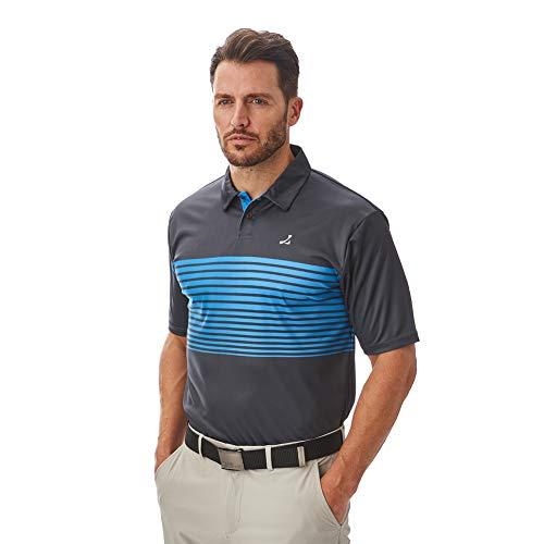 Under Par Herren Golf Pro Qualität Atmungsaktiv Wicking 8 Styles 18 Farben Golf Golf Polo Shirt L Stil 1774 - Anthrazit/Türkis