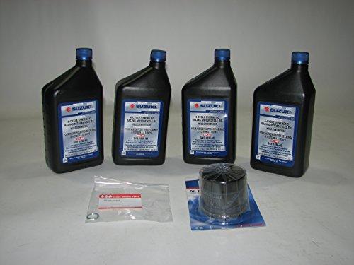 Suzuki Genuine 4-Quart ECSTAR Full Synthetic Oil Change KIT 990A0-01E40-4KT