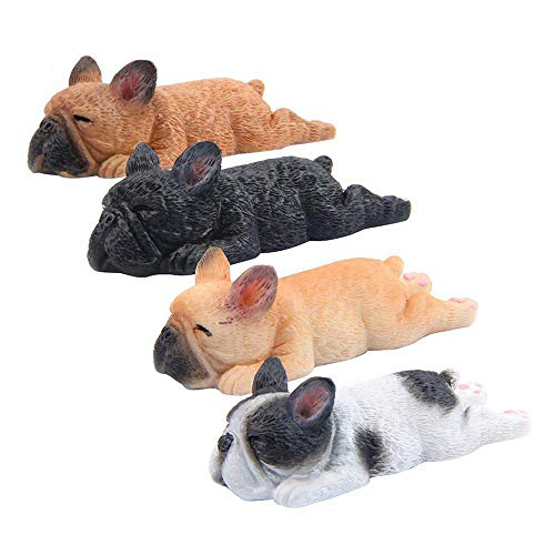 Mary Paxton 4 Pack 3D Refrigerator Magnetic French Sleeping Bulldog,Fridge Magnets Sticker Office Magnet,Kitchen Decor Fridge Ornament,For Whiteboard Notes Gift Souvenir Resin Cartoon Animal Kid Toy