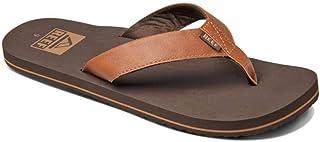 Reef Men's Sandal Twinpin   Comfortable Flip Flop With Vegan Leather Upper