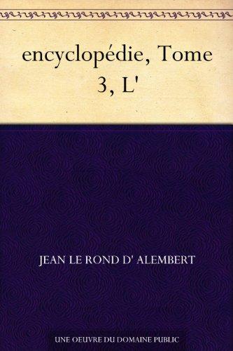 Couverture du livre encyclopédie, Tome 3, L'