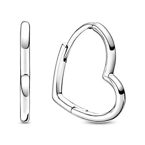 Pandora People - Pendientes pequeños de plata de ley