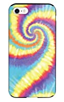 iPhoneSE (第2世代) iPhone8 iPhoneケース ハードケース [ミラー付き/カード収納/耐衝撃] Tie-dye rainbow アイフォンケース スマホケース 携帯電話用ケース CollaBorn Oilshock Designs (オイルショックデザインズ) (iPhone7対応)