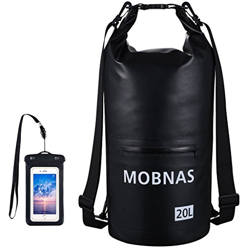 MOBNAS Waterproof Dry Bags Kayak with IPX8 Phone Case,...