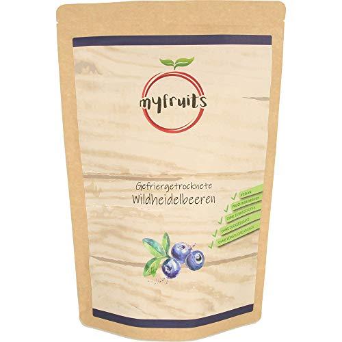 myfruits® Wildheidelbeeren - gefriergetrocknet - ohne Zusätze, zu 100% aus Heidelbeeren, Zutat für Müsli oder Porridge (300g)