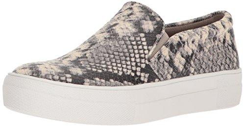 Steve Madden Women's Gills Sneaker, Natural Snake, 8.5 M US