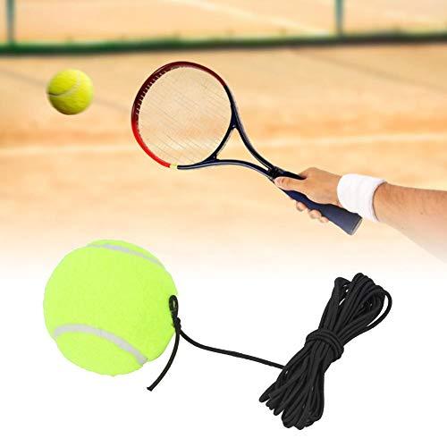 Bola de tênis Bola de treinamento para iniciantes de tênis com corda de borracha elástica de 4m, bola de salto para instrutor de tênis, não precisa de parceiro de tênis, para treinamento interno e ext