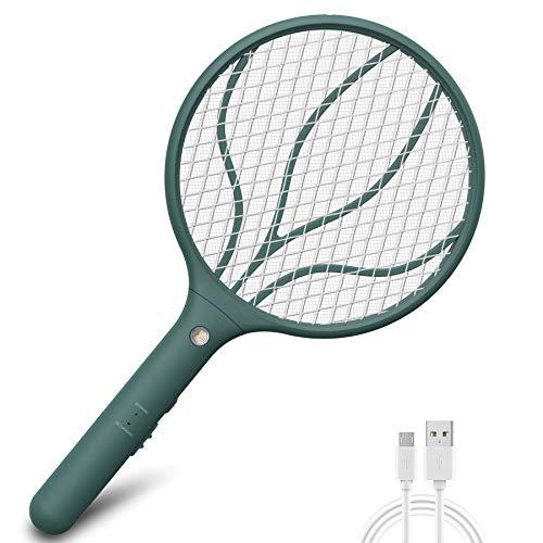 Lukasa Racchetta Zanzare Elettrica, USB Ricaricabile Swatter Insetti Elettrico Repellente Mosquito Killer Elettronico Volare Anti-Insetti Stermina Uccisore Mosche Insetticida