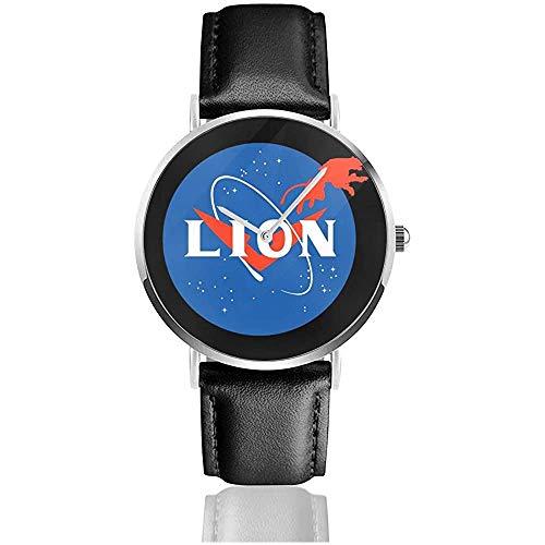 Unisex Voltron X Paladin Luftfahrt Lion NASA Logo Uhren Quarz Lederuhr mit schwarzem Lederband