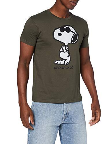 cotton division Herren MEPEANUTS026 T-Shirt, kaki, L