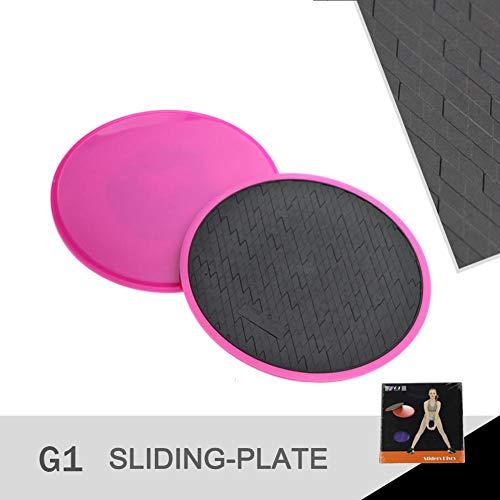 Core Slider, 2er Pack Übungs-Slider für Fitness-Training, beidseitige Verwendung auf Teppich- oder Hartholzböden, Bauch-Trainingsgeräte für Core-Übungen mit Dehnungskraft