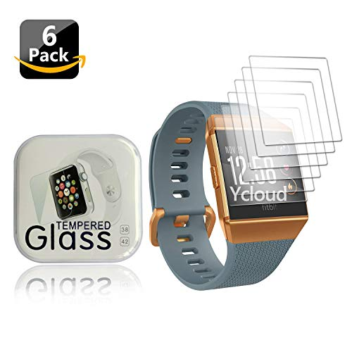 Ycloud [6 Stück PET Schutzfolie Displayschutzfolie für Fitbit Ionic Health & Fitness Smartwatch HD klar Flexible Folie mit Anti-Kratzer Blasenfrei