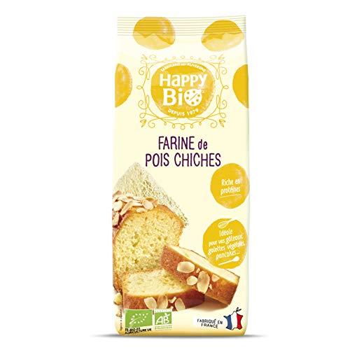 Happy Bio Farine de Pois Chiche Bio 500 g