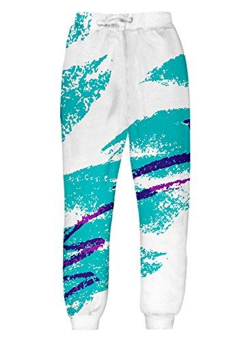 Uideazone Men Women Jazz It Up Jogger Pants Casual Graphic Sweatpants Plus Size,Pants,Asia XXL= US XL