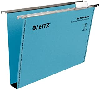 Leitz Ultimate Suspension File Recycled with Tabs Inserts 30 mm A4 - Green, Pack of 50