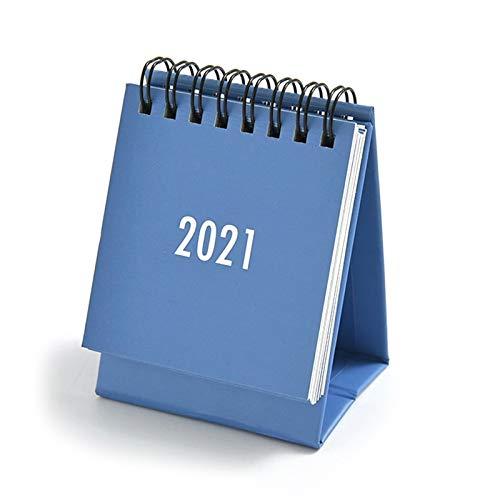 Wenjuersty 2021 Simple diario práctico mini calendario de escritorio oficina hogar planificador suministros