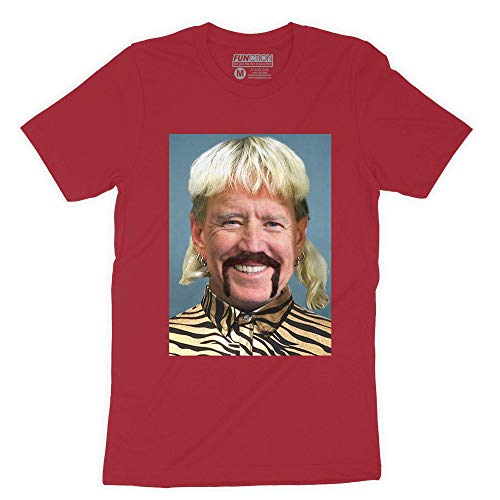 Function - Joe Biden Exotic Mashup Funny Mullet Mustache Tiger Shirt Fashion T-Shirt Tiger King Carole Meme Novelty Democrat Vote Election Red