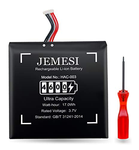JEMESI 4600mAh Batteria Sostitutiva HAC-003 per Console di Gioco [2017] Nintendo Switch HAC-001Batteria con Strumenti di Riparazione - 12 Mesi di Garanzia